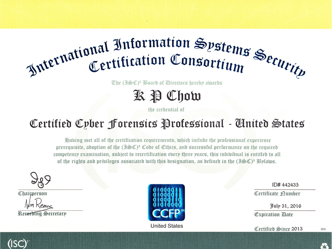 Free Professional Resume Cissp Certification Requirements